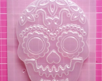 Skeleton Mold, Sugar Skull Mold, Goth Mold, Plastic Skull Mold, Creepy Mold, Resin Mold, Soap Mold, Clay Mold