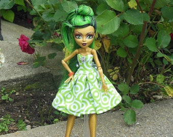 Dress for Monster doll, MH, fashion for doll, clothes for MH doll, handmade