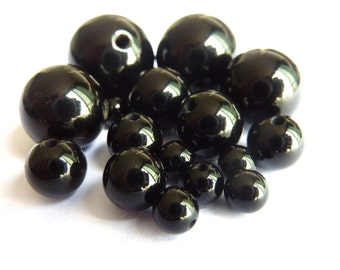 10 onyx beads Ø 4mm PCH045 delicate gem semi precious stone