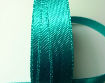 30 meters Satin ribbon 6mm Turquoise
