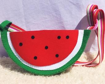 Water Melon Felt Bag