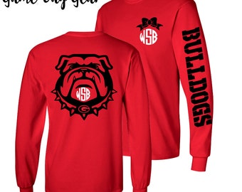 1 Monogrammed Shirt, Long Sleeve, Georgia Bulldog shirt, SEC Shirt
