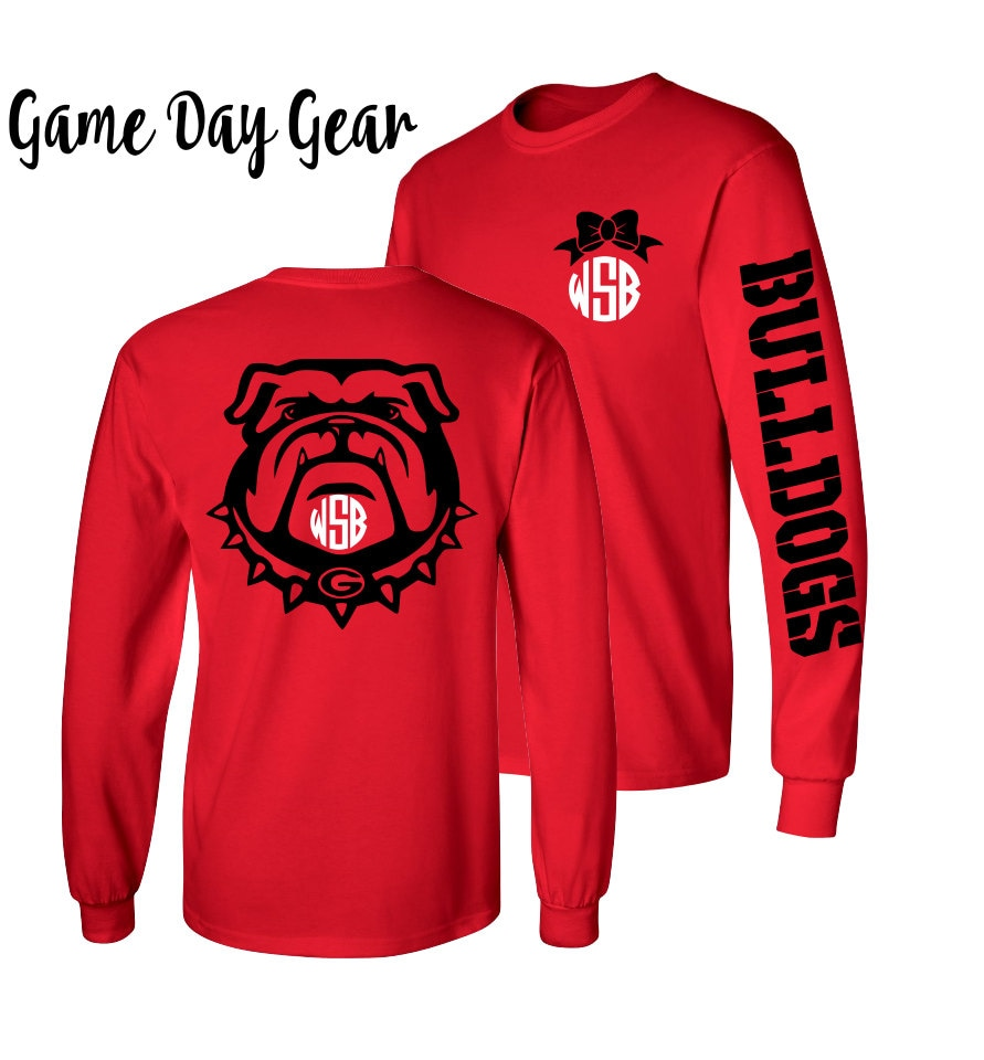 1 Monogrammed Shirt Long Sleeve Georgia Bulldog Shirt Sec