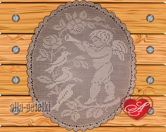 Doily, angel,crochet centerpiece, cotton,white thread, home decor, tabletop decor,  heirloom quality, mothers day