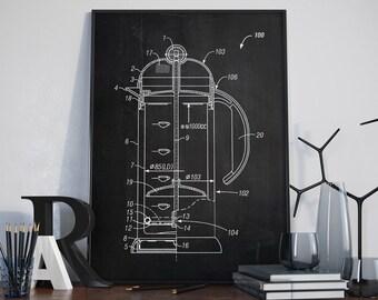 Coffee Making Patent Print, Coffee Patent, Cafe Patent, Bar Decor, Cafe Decor, Home Decor - DA0110