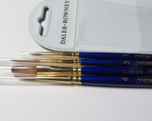 Daler Rowney Sapphire Classic Brush Set With Red Sable And Synthetic Filaments. Suitable For Watercolours, Oils, Acrylics, Gouache.