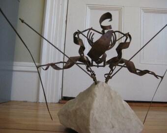 Skier Sculpture