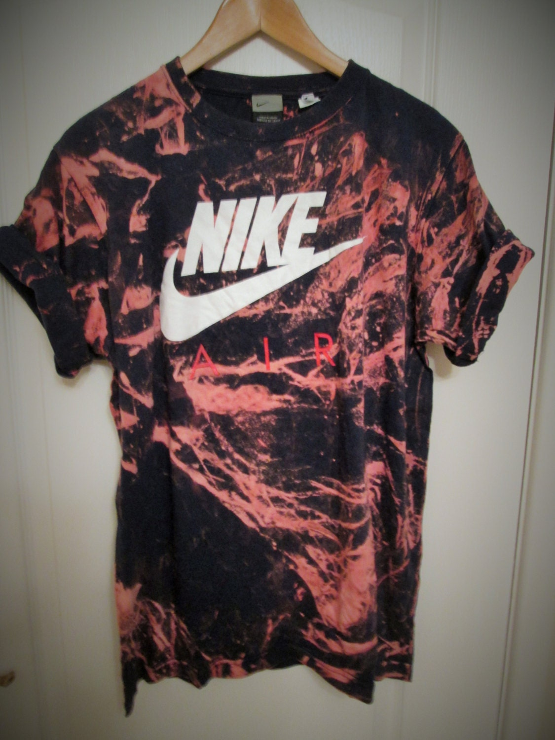 Vintage acid wash tie dye nike retro rave festival unique for How to wash tie dye shirt after dying