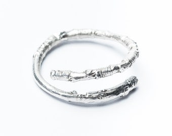 Silver Woodland Ring - twig nature forest woods