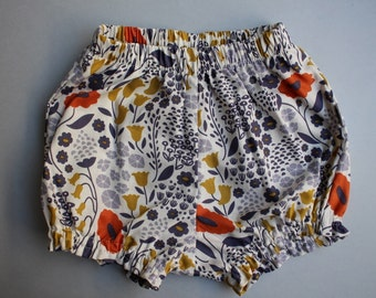 Baby Bloomers / Baby Shorts in Organic Cotton - Lush Lullabye - READY TO SHIP by Little Dreamer