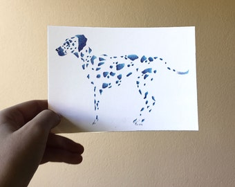 "Postcard - ""little dots and beasts, the Dalmatian"""