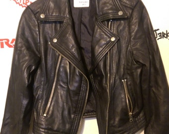 faux leather motorcycle jacket