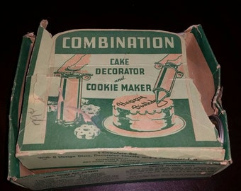 Vintage tin Cookie Decorator, Made in the USA
