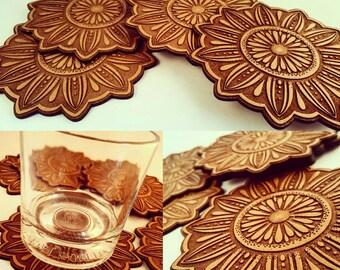 Wooden Mandala Coasters