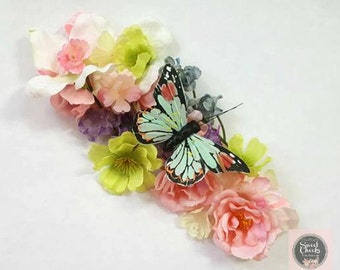 Pastel flower crown, Fairy flower crown, unicorn crown, flower crown, Butterfly flower crown, Newborn headband, toddler headban
