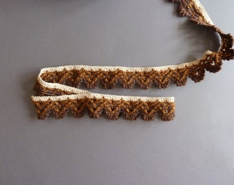 Vintage trims in various shades of Brown, Ribbon for decorating, border