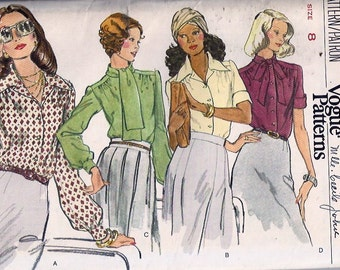 Misses' Blouse / Chemisier pour femme - Very Easy Very Vogue, no 8749
