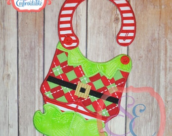 ELF BODY Bib - In The Hoop Design For Machine Embroidery