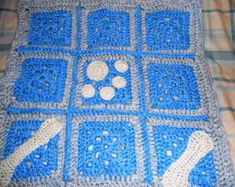 Hand crochet unique blanket or throw for your special pet's bed made to your own specification as requested by your pet!