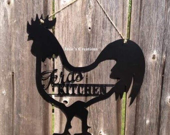 Rooster kicthen sign