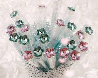 GEL PEN - Blue / Pink Crystal Rhinestone Pen  Planner Pens / Teacher Gift / Life Planner Accessories Stationery