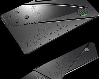 Cardsharp Credit Card Folding Wallet Knife Razor Sharp Blade Camping Hunting Survival Craft Pocket Knife Outdoor Safety Cutting Utensil