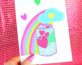 Girl Power A5 Cute Print