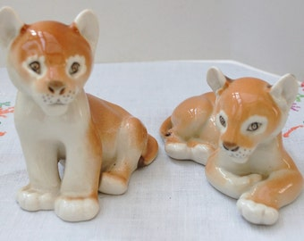 Pair of Lomonosov Lion Cubs