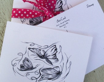 Postcards / Butterfly Postcards / Just Because Cards/ Butterfly Just Because Cards /  Art P7