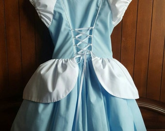 100% Cotton Cinderella inspired dress with Petticoat included