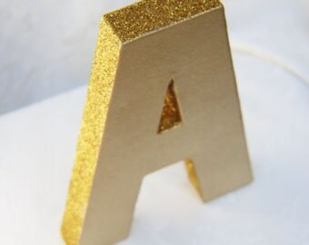 gold glittered monogram letters gold gold party decorations gold party supplies