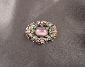 Filigree brooch with galatiti Belle Epoque