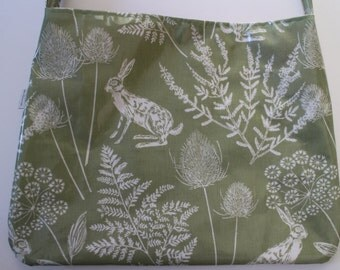 Olive Green Oilcloth Bag