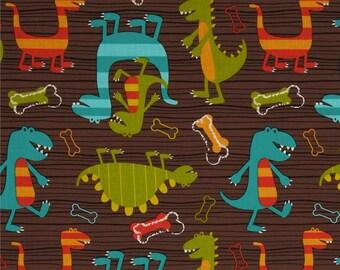 Dino Dudes Cotton Fabric Michael Miller Childen Dinosaur