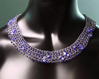 Evil eye beads necklace