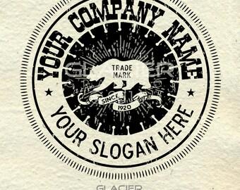 Premade Rustic Custom Logo Typography Construction Vintage Design