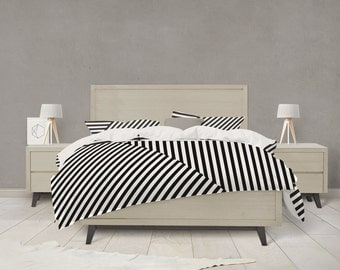 Modern stripe pattern duvet cover