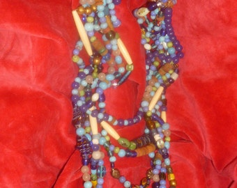 Boho Necklacke European Original Murano Glass Beads