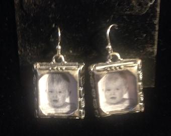 1980's Photo Frame Earrings