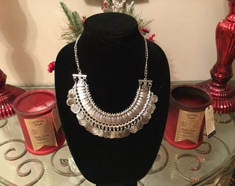 New Fashion Silver Coins Choker Necklace