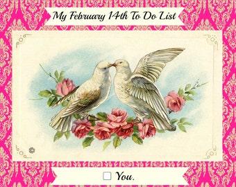 Funny Valentine Card< Naughty Valentine - To Do List