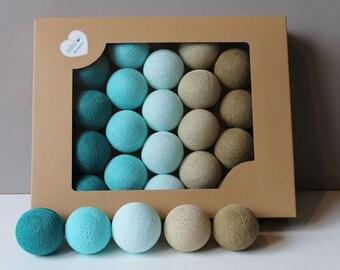 Cotton Balls Turkusove 10 items