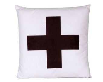 Decorative pillow Cross white