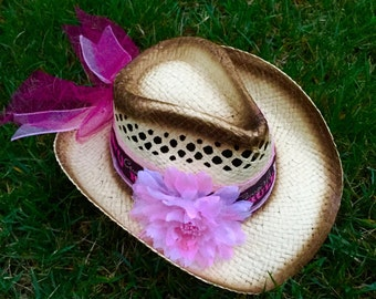 Princess Cowgirls Rule Pink Cowgirl Hat