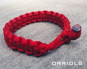 Mad Max Fury Road Tom Hardy Paracord Survival Bracelet in Red