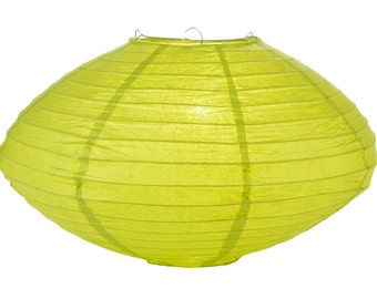 "16"" Chartreuse Saturn Paper Lantern - 16SAT-CH"