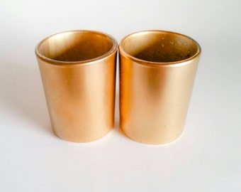Gold Candle Holders, Gold Wedding Decor, Gold Tealight Holders, Wedding Candles(2)