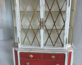 Ideal Petite Princess Treasure Trove Cabinet-vintage dollhouse furniture 1:16 plastic