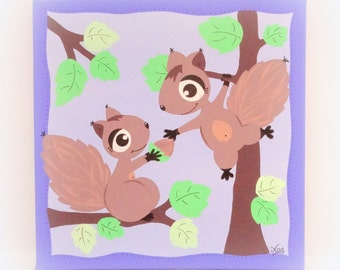 Table squirrel forest for child