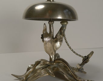 Fabulous and Unusual Antique English Desk or Counter Bell c.1880